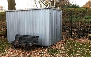 Gartencontainer aus Stahl